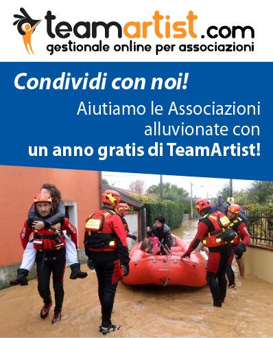 Comunicato Stampa: TeamArtist a favore delle zone alluvionate