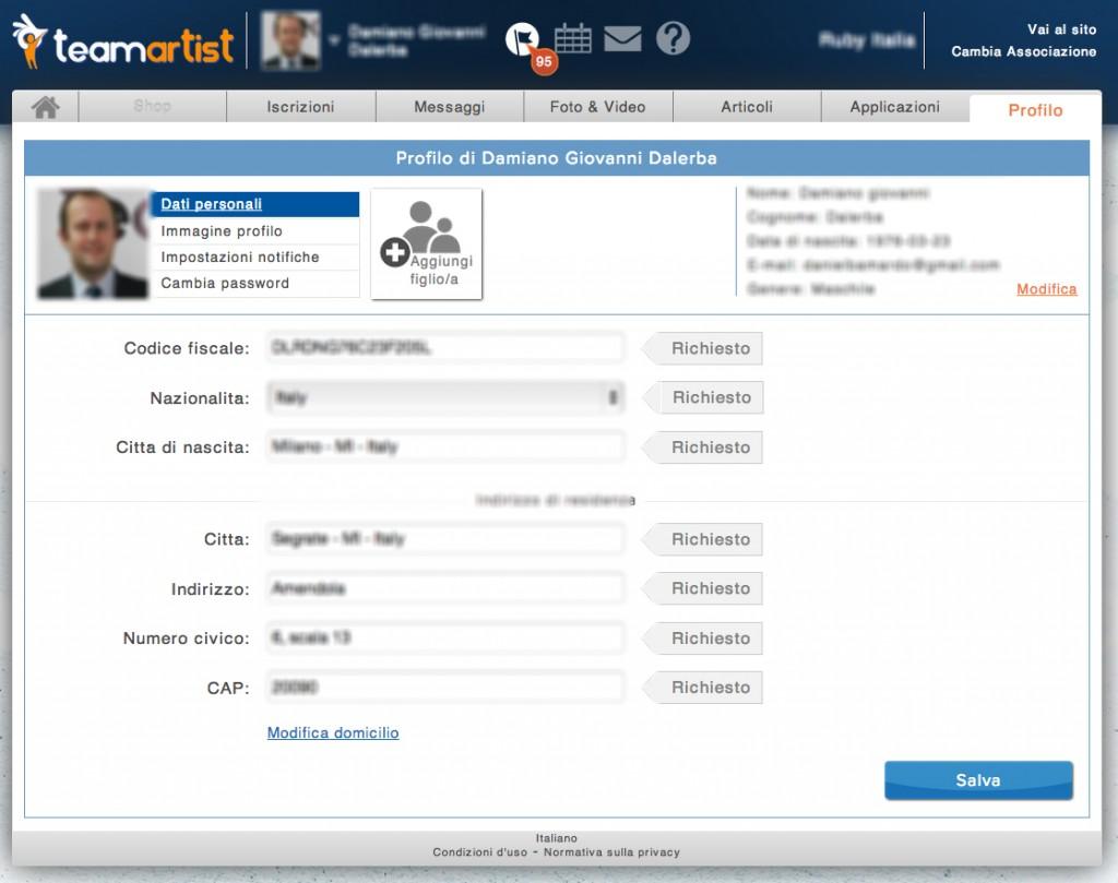 Ora gli utenti possono richiedere direttamente la modifica dei propri dati personali all'amministratore.