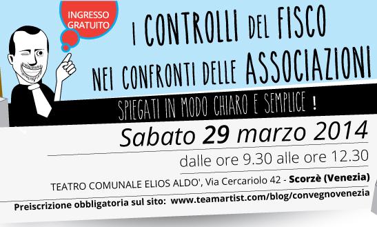 Il 29 marzo 2014 convegno GRATUITO di TeamArtist a Venezia!