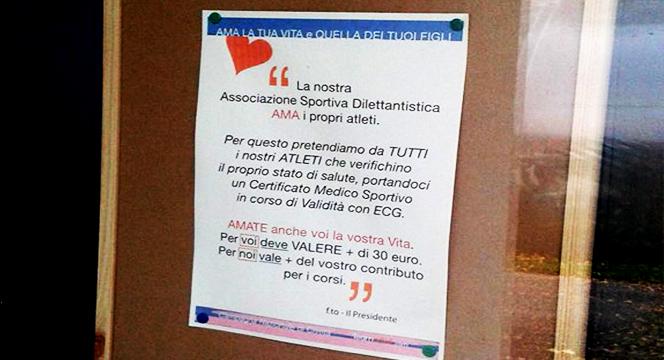 Associazioni Sportive Dilettantistiche e Certificati Medici 2014 – Una discussione assurda