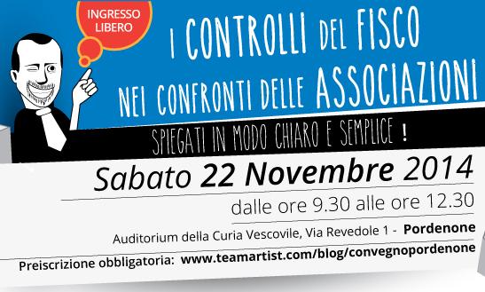Il 22 Novembre 2014 convegno GRATUITO di TeamArtist a Pordenone!