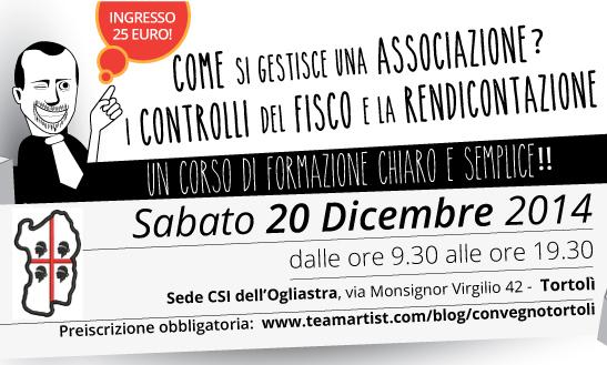 Il 20 Dicembre 2014 Corso di Formazione di TeamArtist in Sardegna!