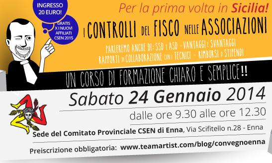 Il 24 Gennaio corso di formazione di TeamArtist in Sicilia!