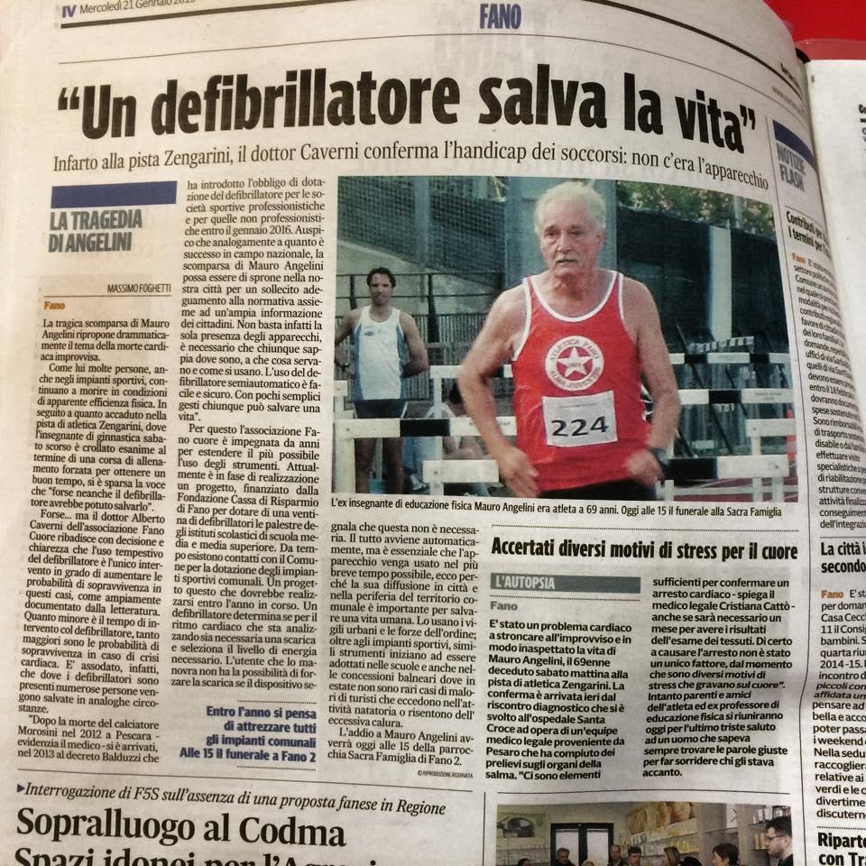 Defibrillatori nelle attività sportive: non ha senso discutere se sono Utili