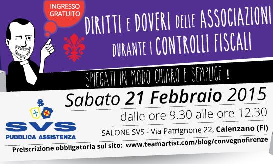Il 21 Febbraio 2015 a Firenze convegno sui Diritti delle Associazioni durante i Controlli Fiscali