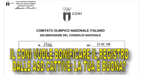 TeamArtist ha trovato la delibera segreta del CONI n°1566